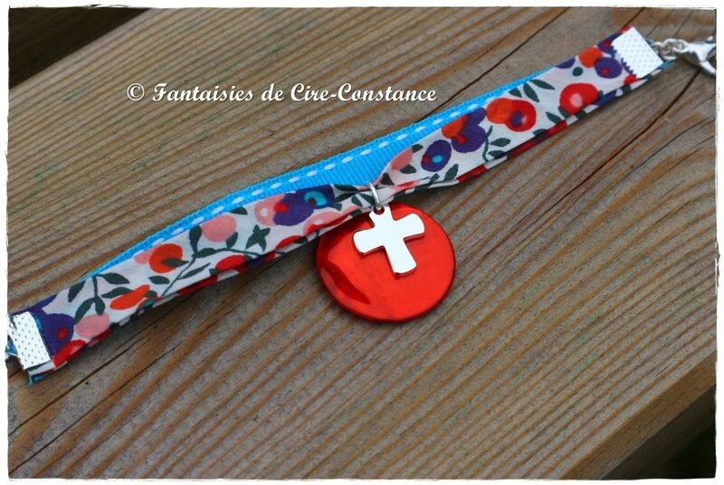 Bracelet duo Lib tirets croix argent