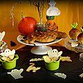 Goûter d'halloween, brioche serpent, biscuits fantômes et décors en chocolat blanc sans thermomètre à sucre...