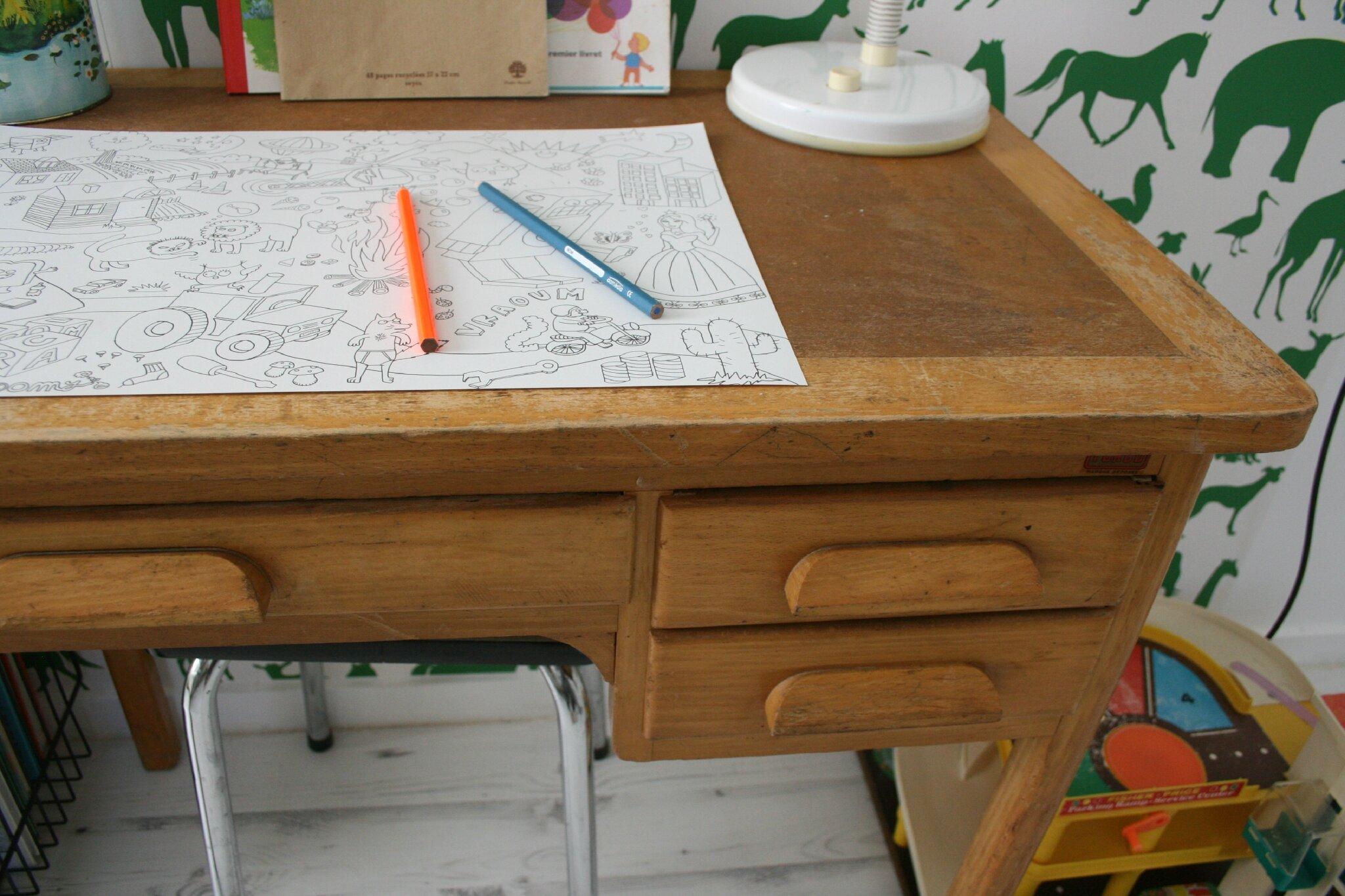 bureau vintage pas cher. Black Bedroom Furniture Sets. Home Design Ideas
