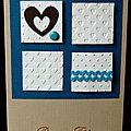 58. caramel, bleu, blanc et chocolat - 4 carrés
