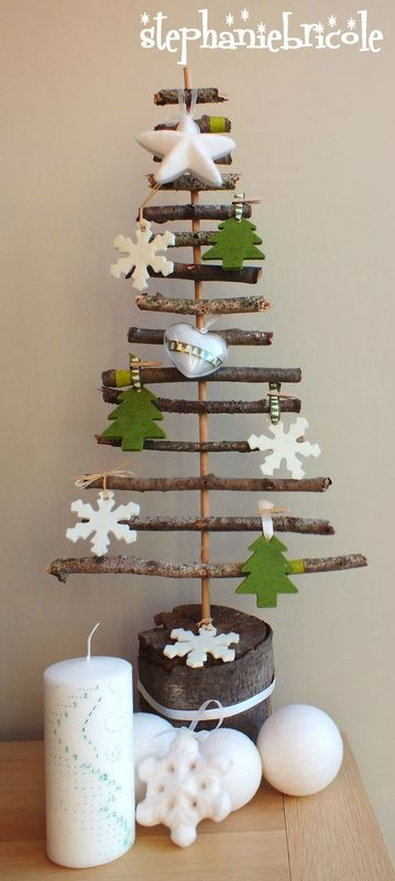 tuto deco nature pour noel faire un sapin avec des pommes de pin st phanie bricole. Black Bedroom Furniture Sets. Home Design Ideas