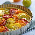 Tarte aux tomates multicouleurs