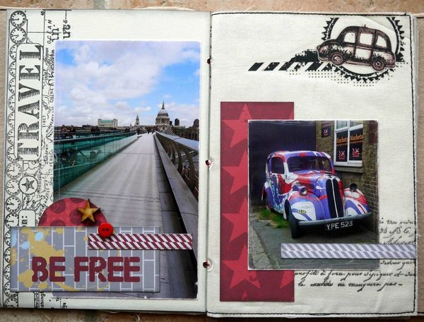 mini album Londres pages 2 et 3