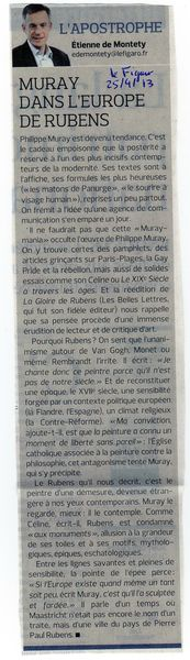 Muray dans l'Europe de Rubens 25 avril 2013 Le Figaro
