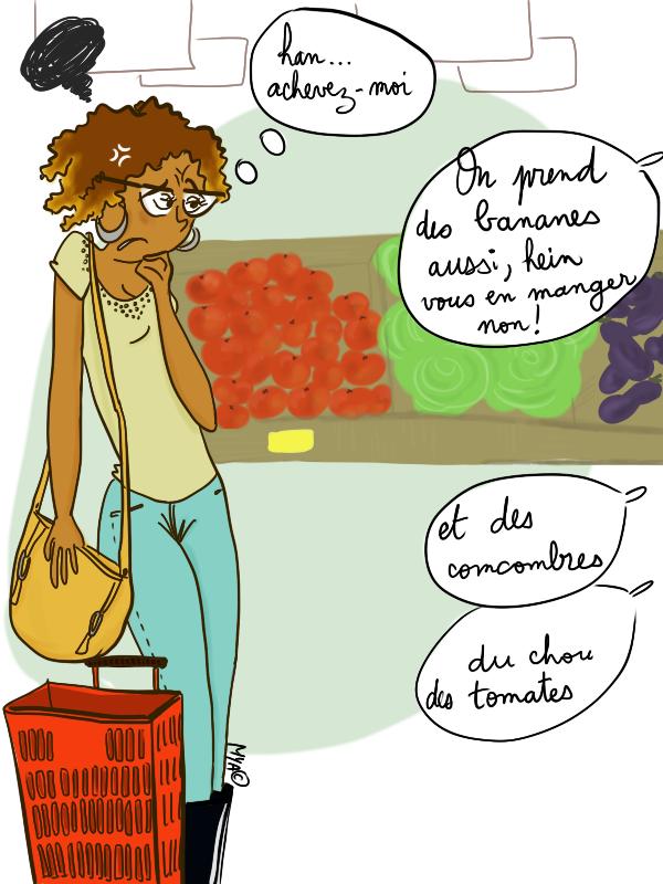 Au rayon fruits et légumes