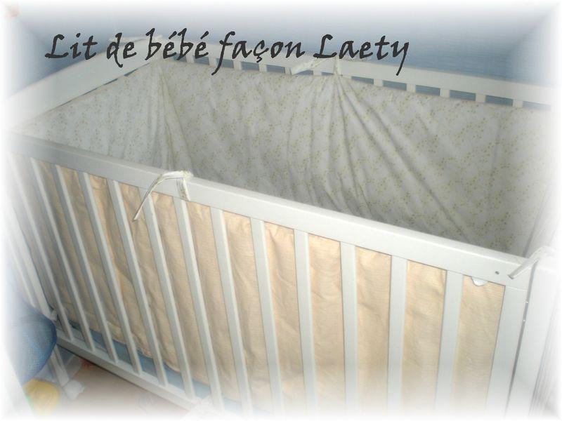 tour de lit complet de gwenaelle p che et blanc imprim laeti couture mei ta mei tai porte. Black Bedroom Furniture Sets. Home Design Ideas