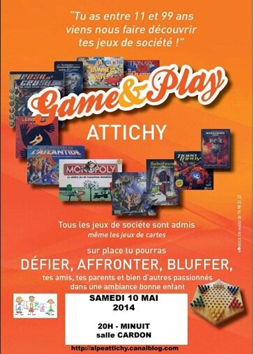 Affiche Game & play