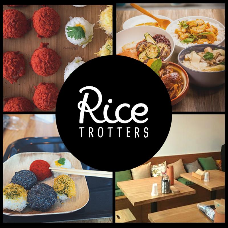 Concept autours du riz, trois riz différents chaque jour et recettes du monde
