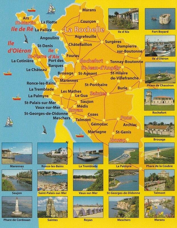 Carte Charentes Maritimes