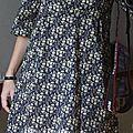 Robe jap' en capel bleu