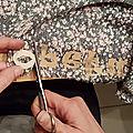 Tentative de customisation par appliqué de tissu : pas une réussite !
