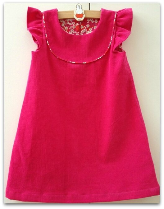 Kate's dress rose indien (2)