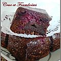 Brownie betterave crue framboises