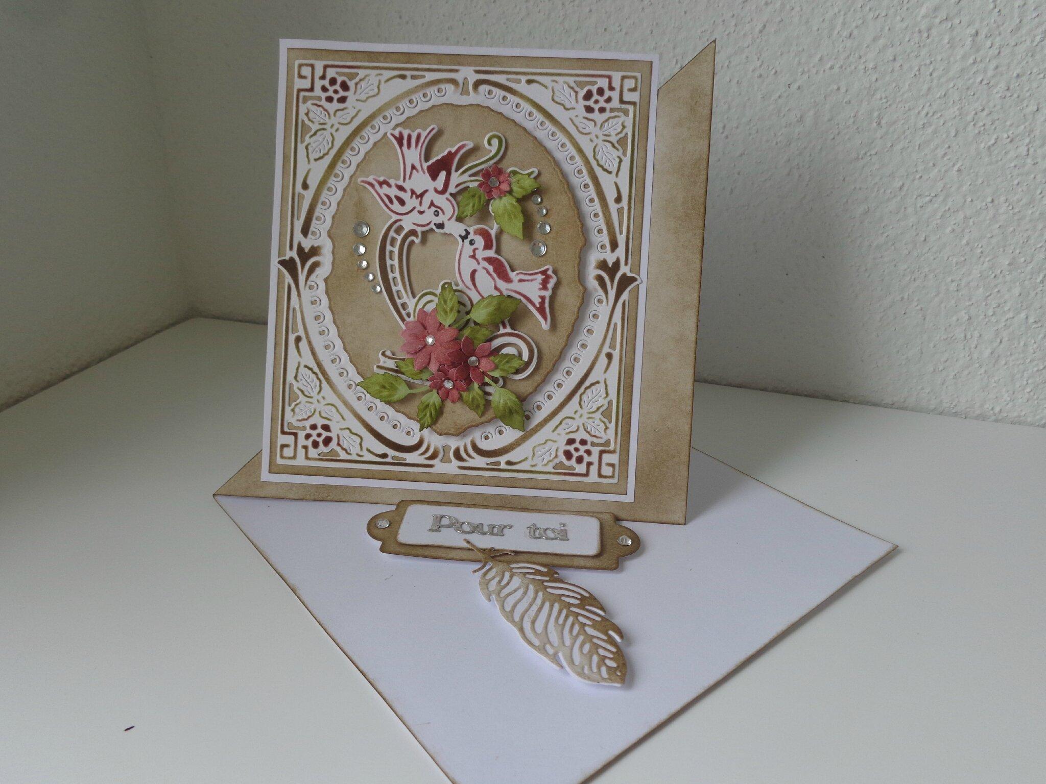 "Carte chevalet ""birds"""