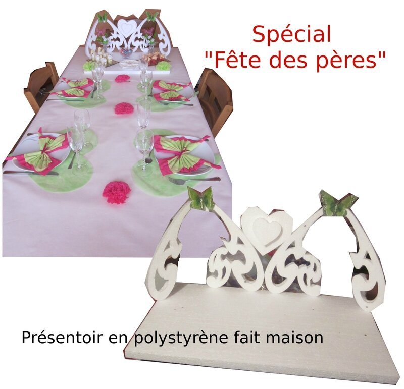 table fete des peres