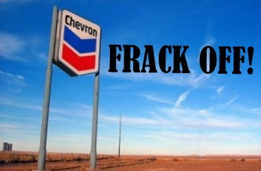 chevron frack off!