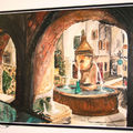 La fontaine (aquarelle)