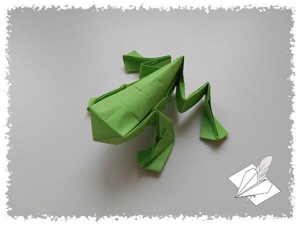 Grenouille sauteuse les origamis de mathieu - Origami grenouille sauteuse pdf ...