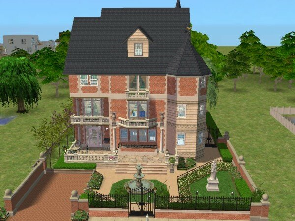 Villa rambouillet maisons deco sims2 for Decoration maison sims 4