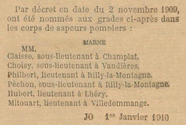 1909 Pompiers