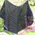 Eva's shawl alpaga noir