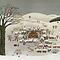 Le cirque du village sous la neige