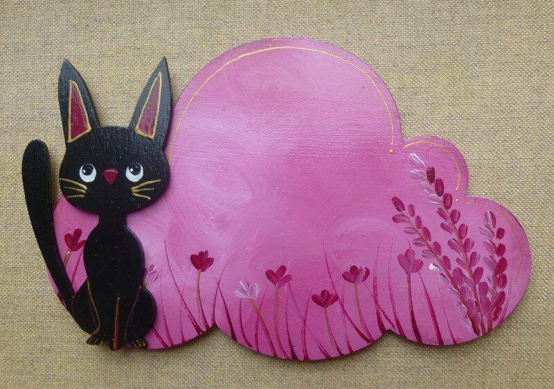 plaque de porte chat noir 1