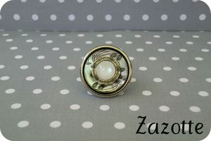 bague intemporel agrent blanc