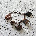 bracelet gateaux au chocolat 7 €