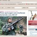 Espagne : jusqu'où peut aller l'effronterie du trucage médiatique ? un enfant-soldat asiatique chez les farc...