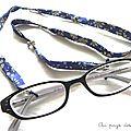 Cordon à lunettes biais Liberty Au pays des Cactus