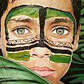 Jeune brésilien aux yeux verts