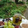 Condiment de raisins à l'aigre doux
