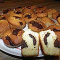 Muffins marbrés chocolat-vanille