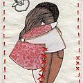 n° 227, ATC Les amoureux, Mam'zelle rouge, ok