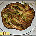 Twisted matcha bread