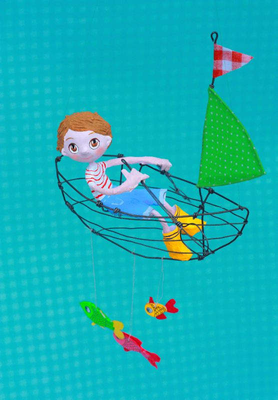 Papier mache mobile - Mimi Rondelle