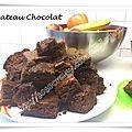 Gateau au chocolat, sans oeuf ni beurre