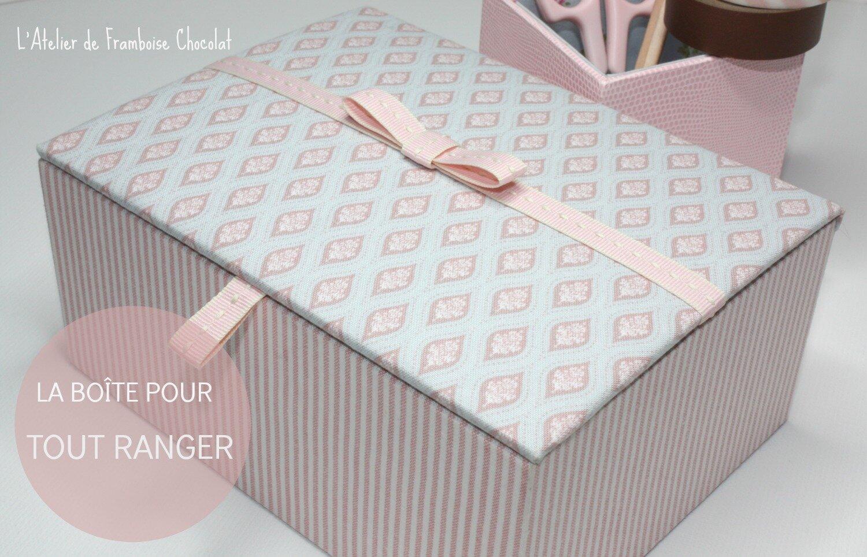Boîte pour tout ranger L'Atelier de Framboise Chocolat