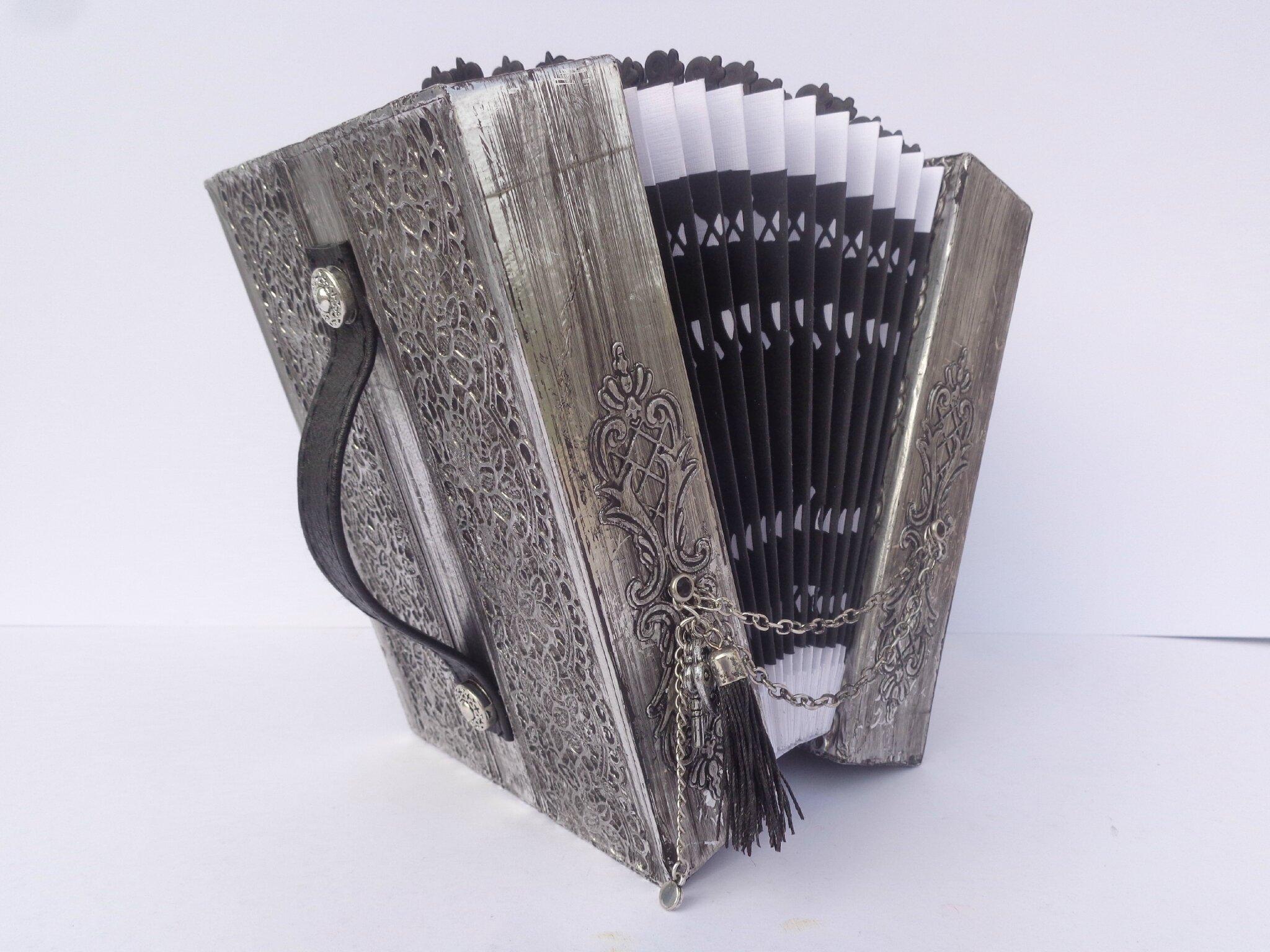"""Album photo accordéon """"métal art"""""""
