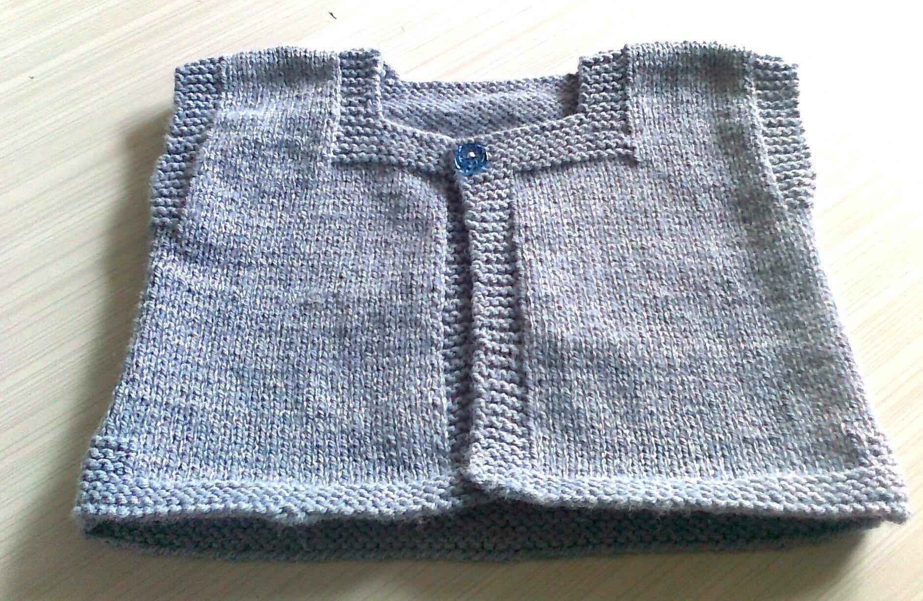 1f51c84dd2c5 Tricoter un gilet pour bébé facile - Laine et tricot