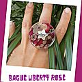 Bague Liberty rose (B114)