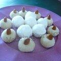boules noix de coco & pâtes d'amande