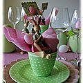 Pâques en rose et vert...