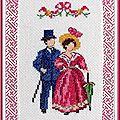 Cadre Romantique rectangulaire 21,2x14,5cm-7,5x10,5cm Couple au parapluie (1)