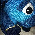 Licorne bleue détails