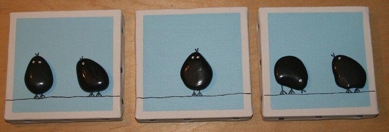 5 petits oiseaux se balan ant sur un fil lectrique s v cr ations. Black Bedroom Furniture Sets. Home Design Ideas