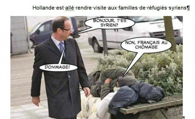 ps hollande humour sdf refugie collabo