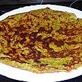 Omelette végane aux courgettes