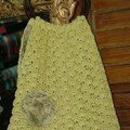 Sac à ouvrages en coton, réalisé au crochet (création Le Comptoir)